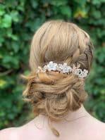 Jasmine Gold Blush Floral Hair Vine Hair Comb